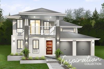 Esprit Home Design - Inspirations Range Double Storey | Marksman Homes - Illawarra Home Builder