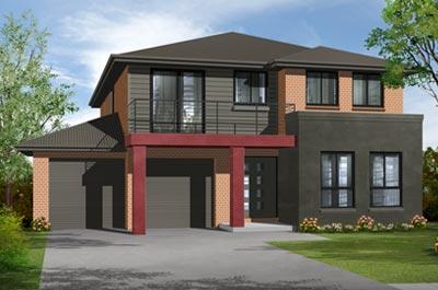 Oasis Home Design - Double Storey | Marksman Homes - Illawarra Home Builder